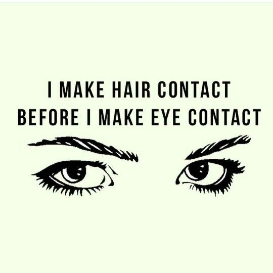 Hair contact