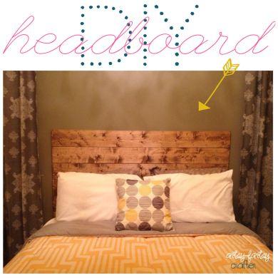 DIY WOOD HEADBOARD! SO EASY!!