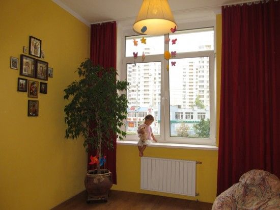 Как покрасить ткань для штор своими руками | How to paint curtains?