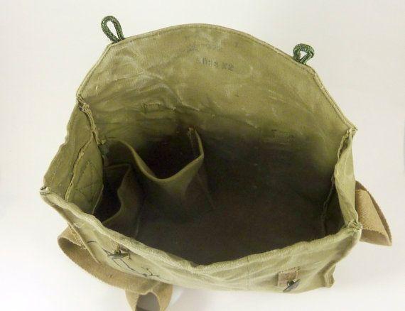 Grunge Daisy Vintage Military Messenger Bag / Purse. by clpstudio