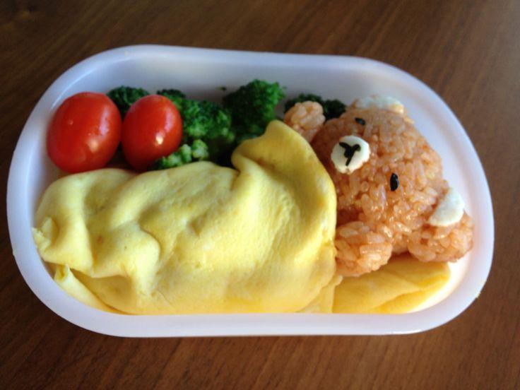 low carb bento Lunch Box for Adults | ... Bento, Character Bento, Lunch Box, Rira Kuma, rirakkuma, 子供弁当