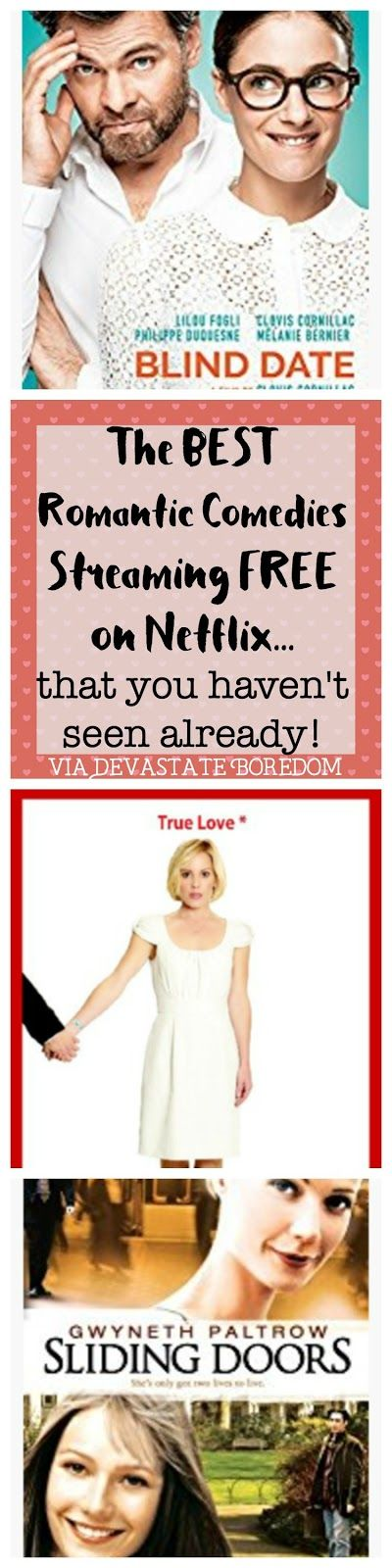 Going to have to remember these movies! -- What to Watch and What NOT to Watch -- movie reviews of romantic comedies streaming free on Netflix!  Sweet, funny clever and thoughtful rom coms you haven't seen already -- something new to stream online!  Great movies, and a terrible one too, review of Blind Date, Timer, Sliding Doors, and Cafe Society, via Devastate Boredom