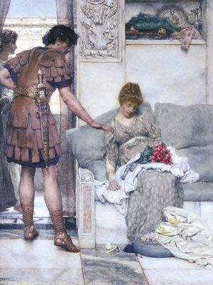 A Silent Greeting, 1889 by Sir Lawrence Alma-Tadema