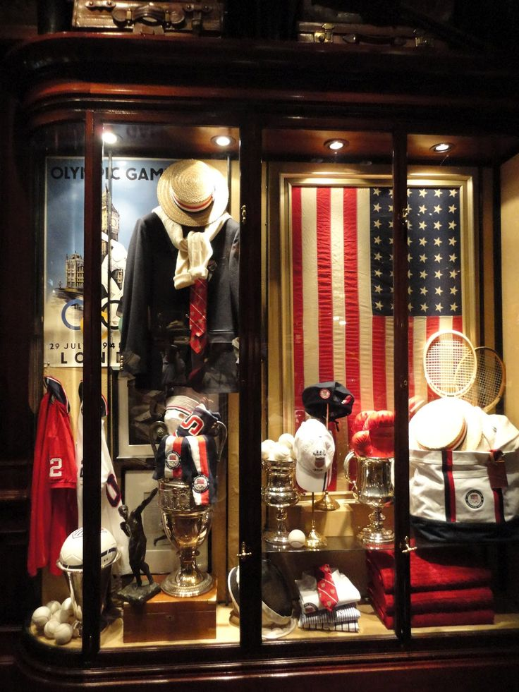 I was in the Ralph Lauren store in Chicago and this London Olympic display case is amazing.  Except for the fact that the American flag is improperly displayed BACKWARDS.  :-(  Tsk. Tsk.