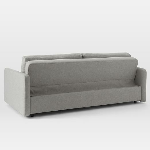 Clara Sleeper Sofa Performance Velvet Stone Concealed Supports