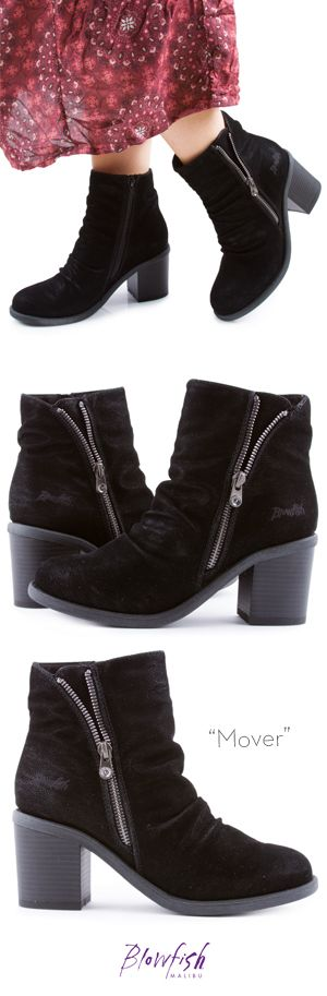 Be a real MOVER and shaker with this gorgeous faux-suede bootie by Blowfish Shoes!