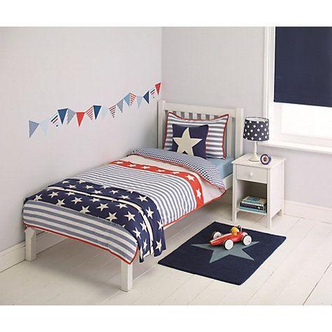Buy little home at John Lewis Stars & Stripes Duvet Cover and Pillowcase Set, Single Online at johnlewis.com