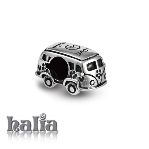 Travelin' Van: Vintage hippie van bead: designed exclusively by Halia, this bead fits other popular bead-style charm bracelets as well. Sterling silver, hypo-allergenic and nickel free.     $35.00