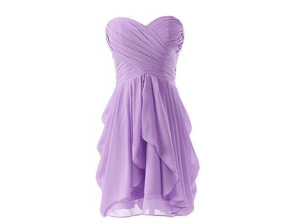 Purple bridesmaid dress short bridesmaid dress by OnlyuDress, $85.99. Something like this but with straps or a shear part to go over the chest?