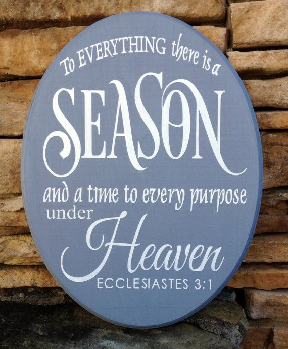 To Everything There is a Season, Hand Painted Wood Sign, Made in USA, Housewarming Gift, Christmas Gift #etsy #USAMade