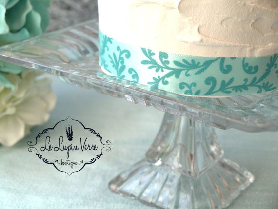 7.5 Vintage Square Destination Wedding Cake Stand by LeLupinVerre