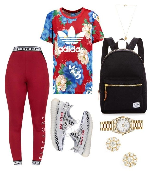 """Untitled #24"" by igjtskloset on Polyvore featuring adidas Originals, Yeezy by Kanye West, Herschel Supply Co., Rolex, Vanessa Mooney and Bony Levy"