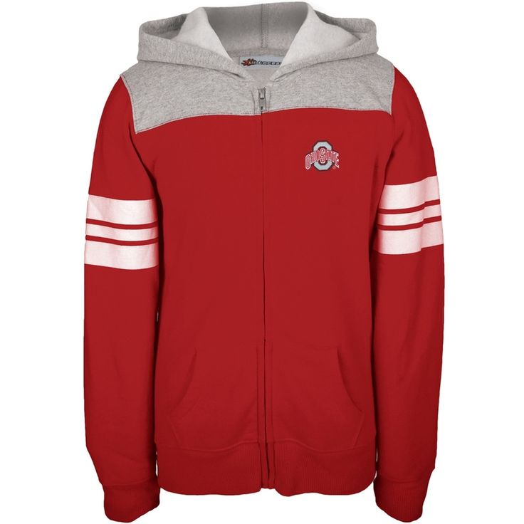 Ohio State Buckeyes - Game Day Stripes Girls Youth Zip Hoodie