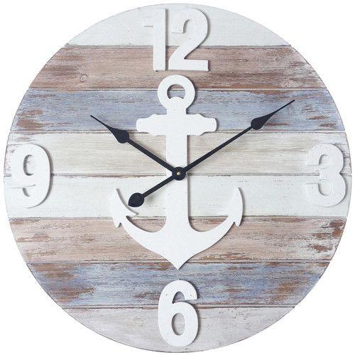 oversized round wood wall clock birchlane