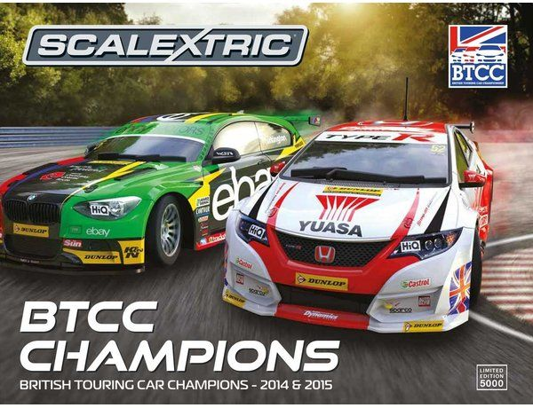 The Scalextric BTCC Champions Twin Pack - BMW 125 Series 1 & Honda Civic is a 1/32 scale slot car twinpack and is part of the Scalextric Limited Editions range.