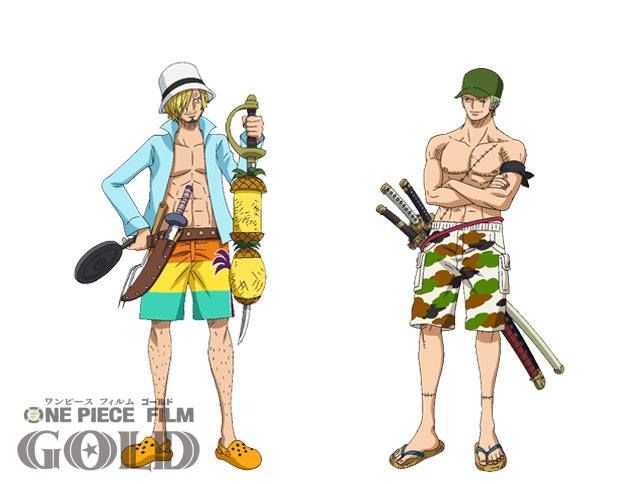 Straw Hats Beach Costumes in One Piece Gold Movie | ONE PIECE GOLD