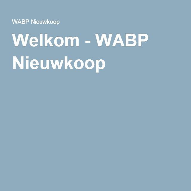 Welkom - WABP Nieuwkoop