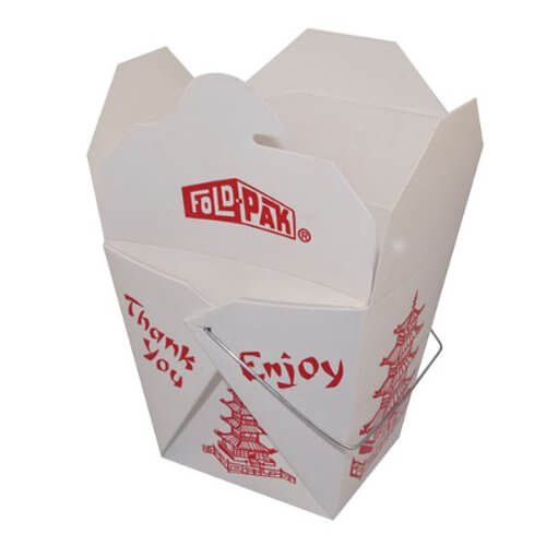 Chinese food boxes, as indicated by their name, are used for keeping Chinese food within them. Mostly, we can see these type of boxes in restaurants (mainly in those where Chinese food is being offered).