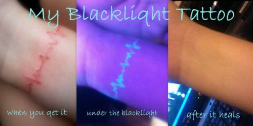black light tattoo, so cool! this is the only kind of tattoo i would ever consider!