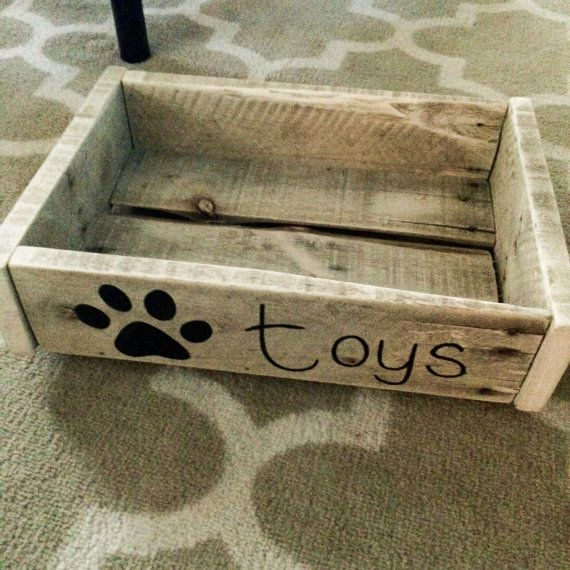 Dog Toy Box/Crate by CraftingUpCuteness on Etsy