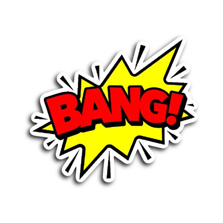 Comic Book Speech Balloon Stickers - Bang!