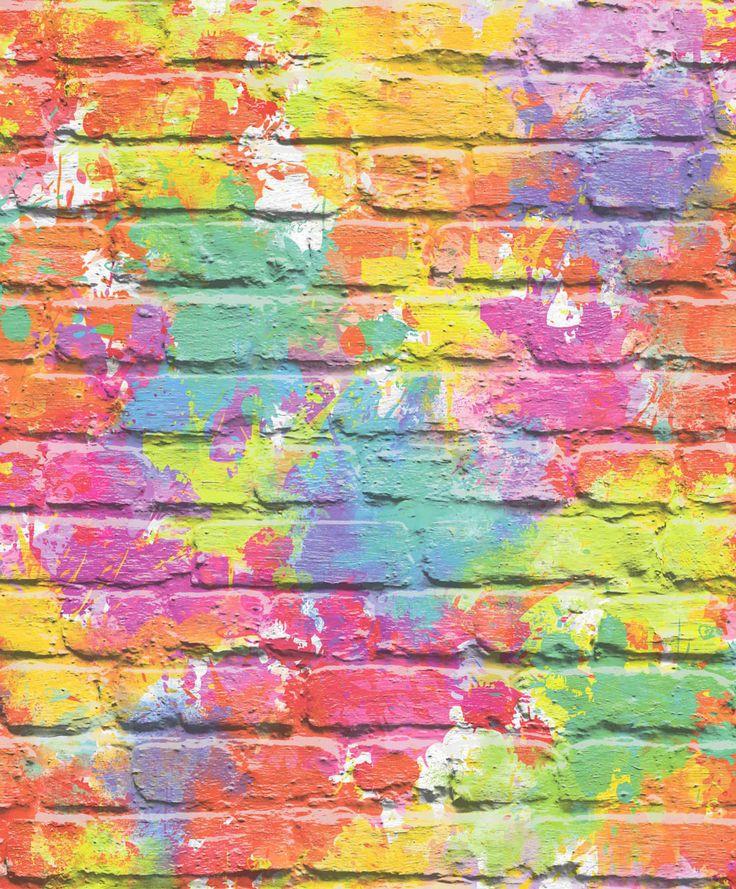Graffiti Wall Multicoloured  wallpaper by Albany