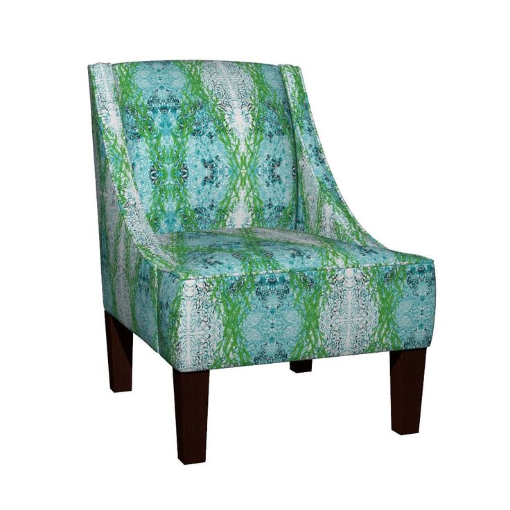 Venda Sloped Arm Chair featuring Ottoman Salep Garland by joancaronil | Roostery Home Decor