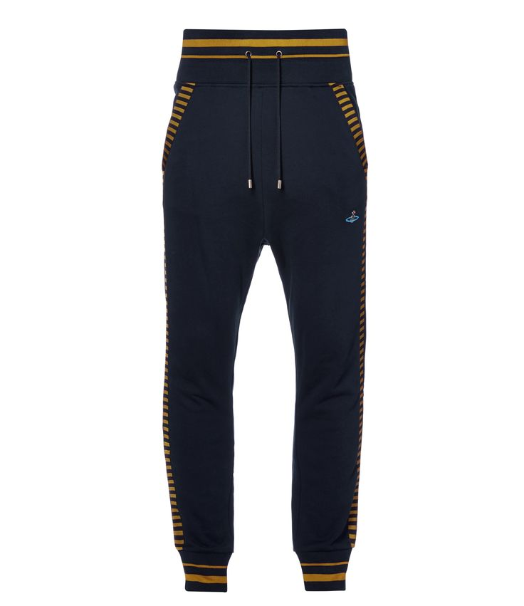 VIVIENNE WESTWOOD Navy Sport Line Track Pants. #viviennewestwood #cloth #