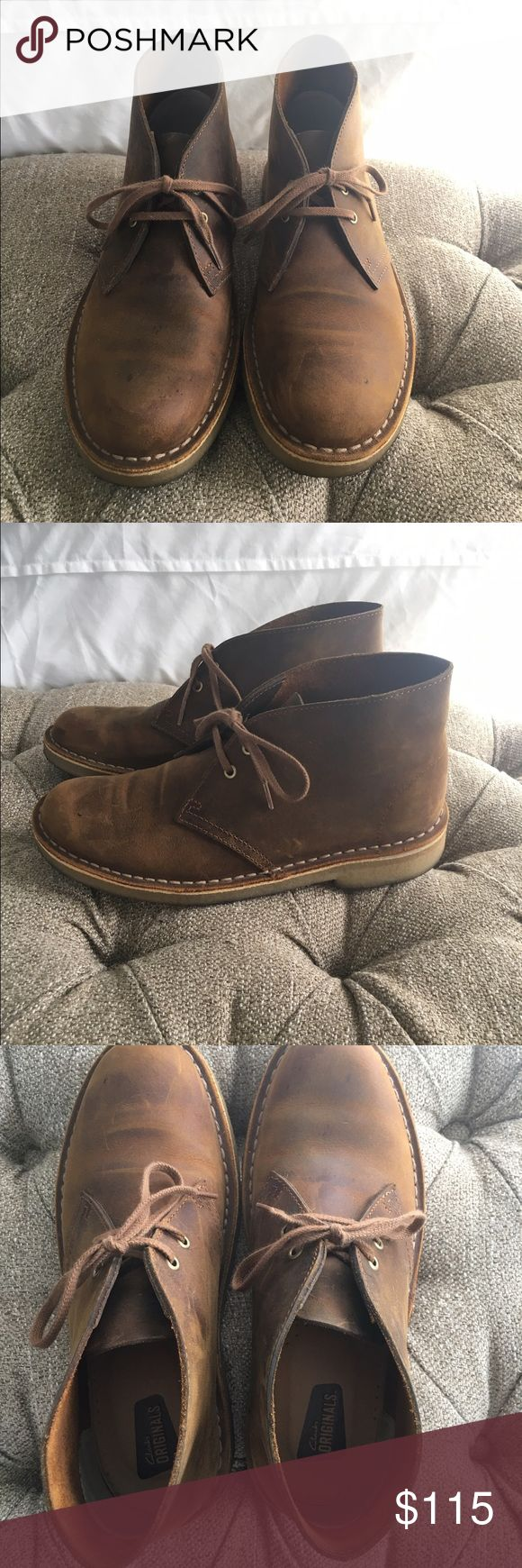 Clark's Women's Desert Boots Clark's Women's Desert Boots in brown leather, only worn about five times. They are super comfortable! Clarks Shoes Ankle Boots & Booties