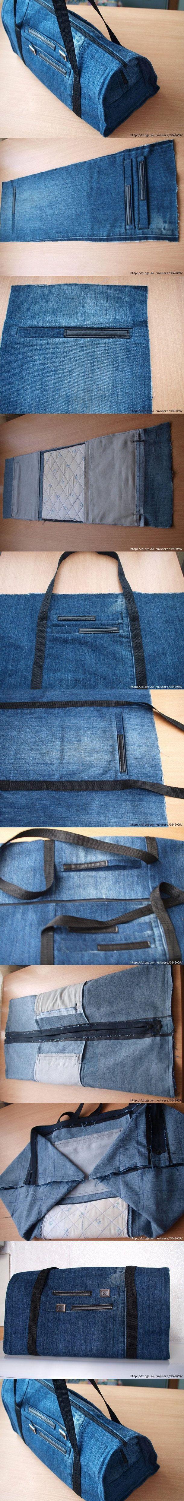 Torba podróżna z jeansów