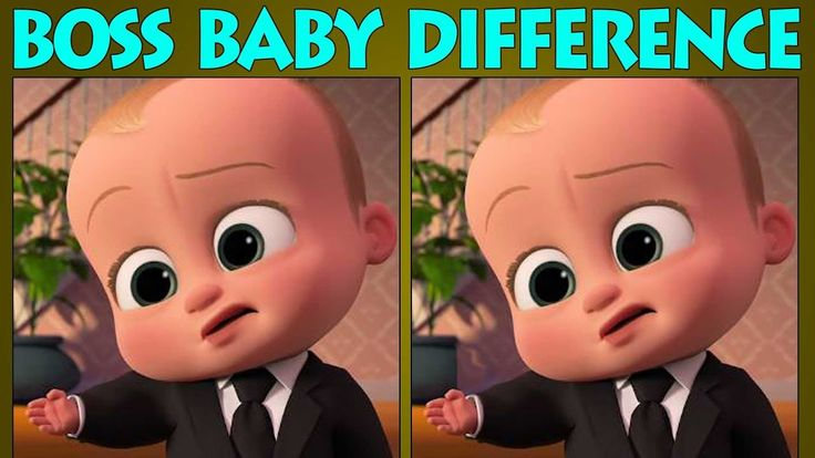 The Boss Baby Difference Puzzles | Boss Baby Quiz | Find The Difference ...
