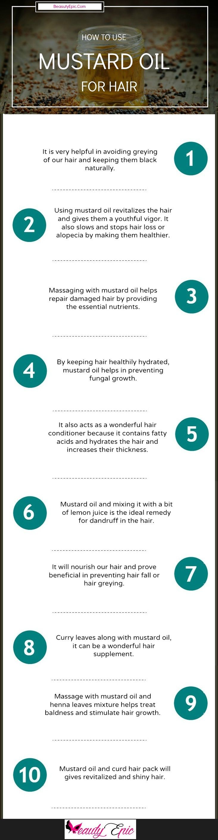 10 Best Ways to Use Mustard Oil for Hair