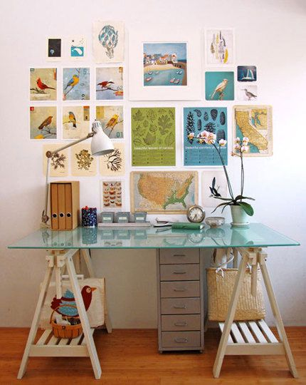 great use of art above the desk
