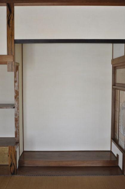 和室床の間-漆喰塗り
