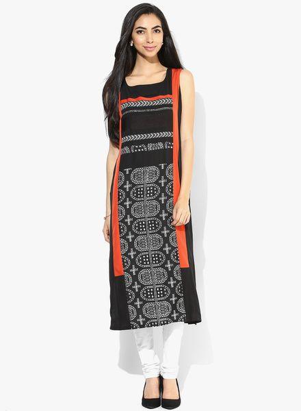 Buy W Black Printed Kurta for Women Online India, Best Prices, Reviews | XW574WA38FGJINDFAS