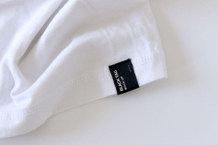 Black Tag Cloth Mockup