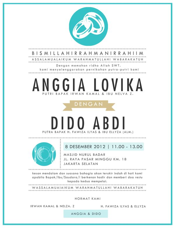 Konsep Undangan Pernikahan Indonesia - A Wedding Invitation - Anggia & Dido