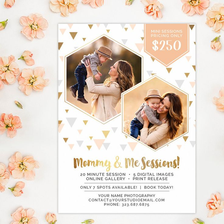 Mommy and Me Mini Session Marketing Template, Mini Session Marketing – Photoshop Templates for Photographers, Photography Marketing Templates, Photo Card Templates, Album Templates & more! – Hazy Skies Designs, LLC