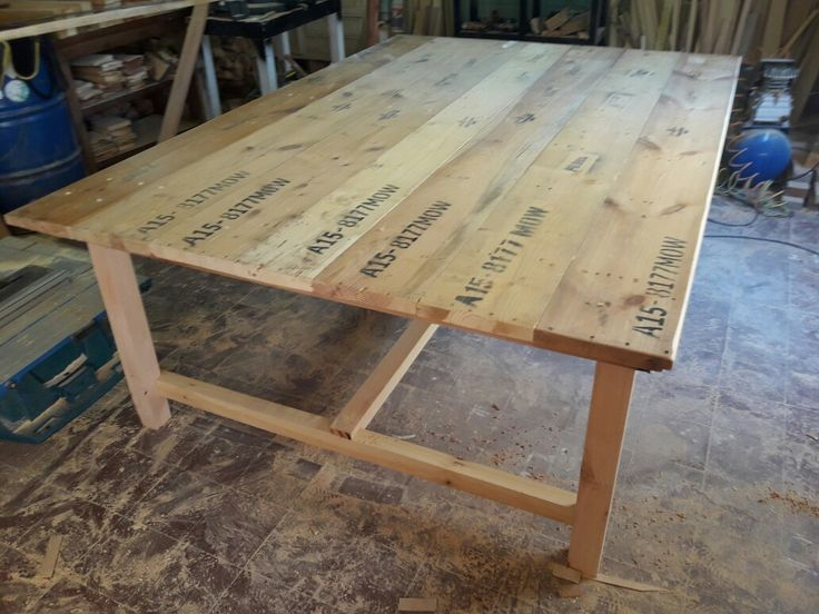 17 mejores ideas sobre mesa de tablones en pinterest for Tablones de madera para exterior