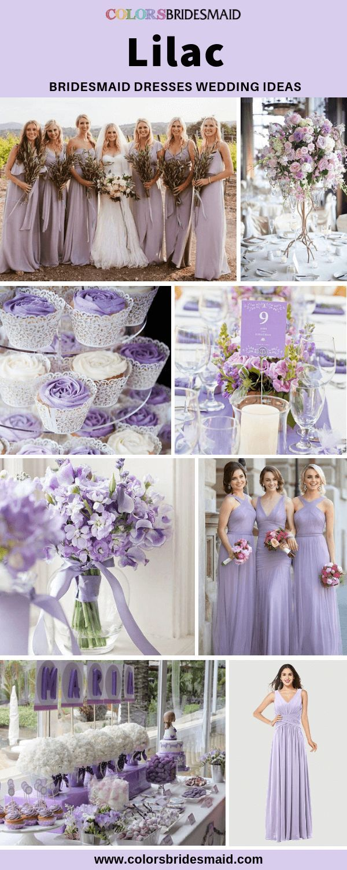 Lilac Bridesmaid Dresses Lilac Bridesmaid Lilac Wedding Themes