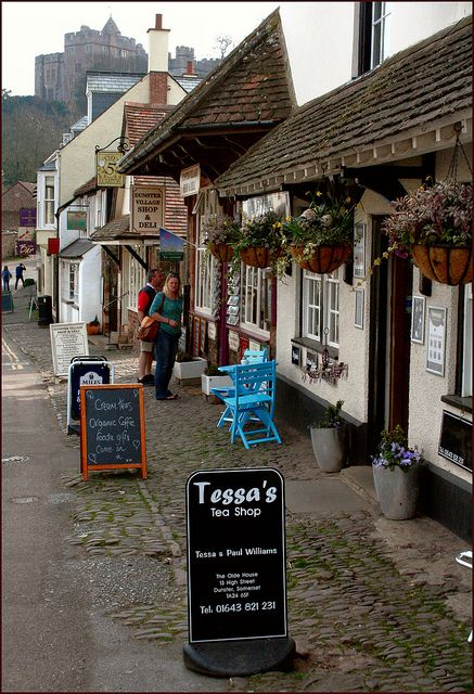 Dunster is a village and civil parish in west Somerset, England, situated on the Bristol Channel coast.