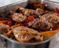 How to make Spanish chicken traybake with chorizo & peppers