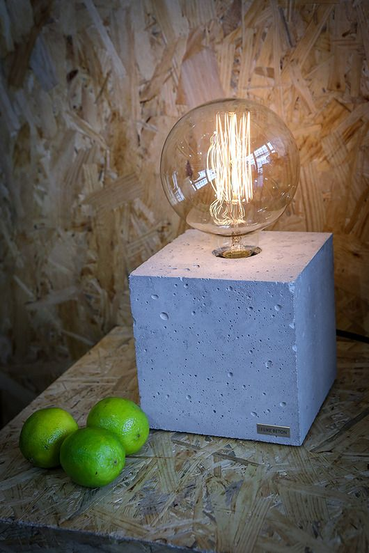 lampy-Betonowa lampa EDISON CUBE 15