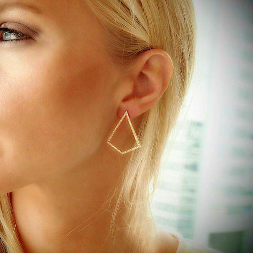 """Polyvalent"" 18K Yellow Gold Diamond Earrings"
