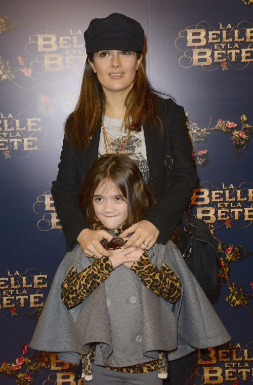 Salma Hayek & Valentina Attend Paris Premiere