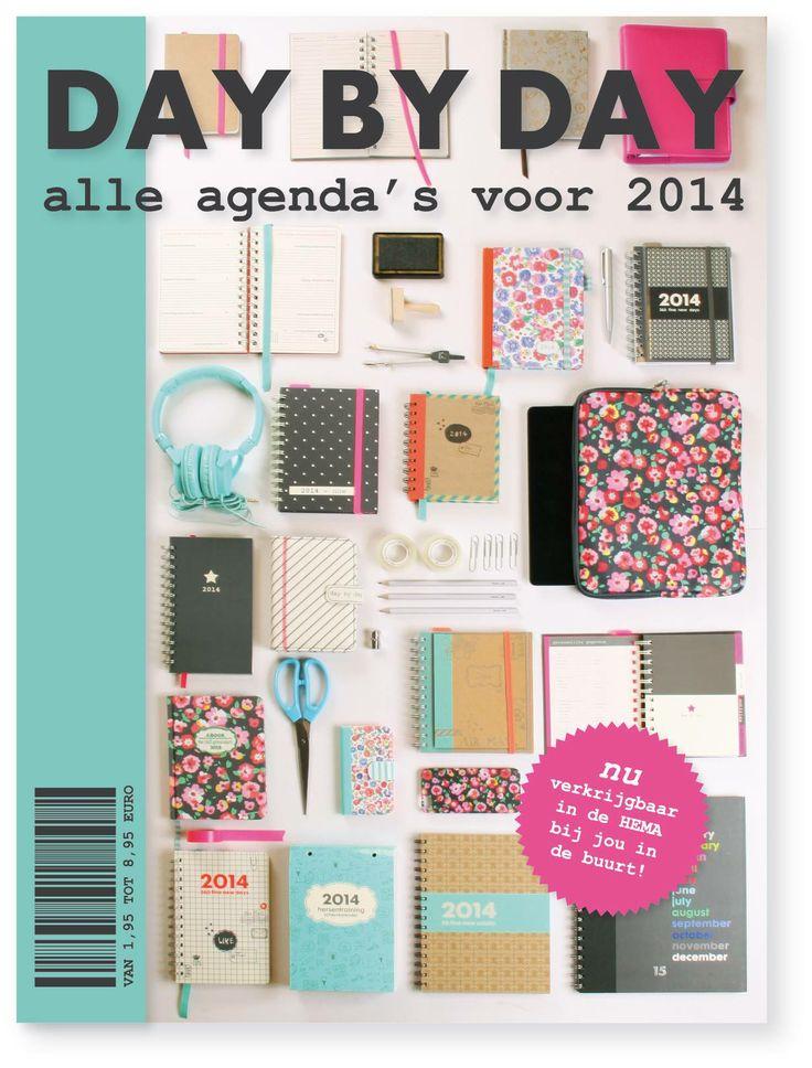 Ze zijn al in winkel hoor! Het HEMA designteam heeft de leukste en handigste jaar-agenda's voor 2014 ontworpen. Ook leuk om cadeau te geven (en te krijgen). Wist je dat je ook je telefoon en tablet accessoires met je agenda kunt matchen?