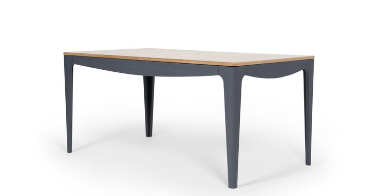 Magdalena Extending Dining Table, Oak and Grey | made.com