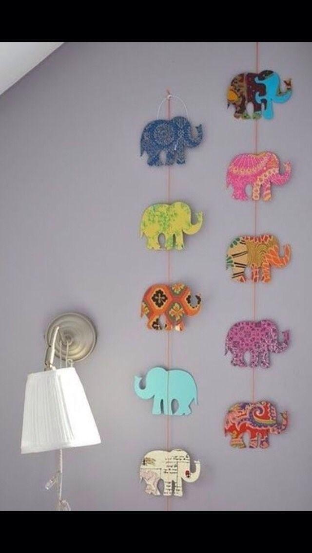Diy Elephant Wall Decor #DIY #Crafts #Trusper #Tip