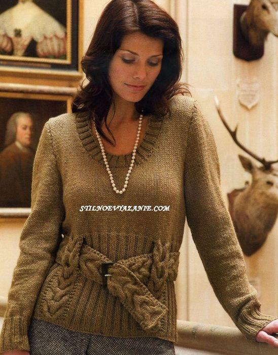 пуловер с косами1 (548x700, 189Kb)