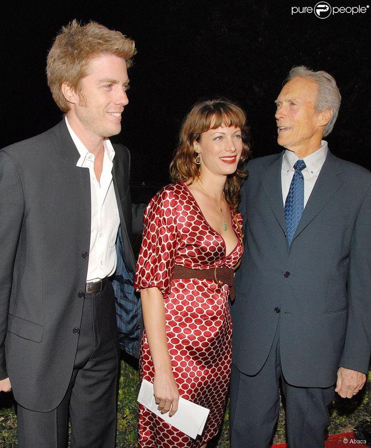 Kyle Eastwood, sa soeur Alison Eastwood et son père Clint Eastwood lors de l'avant-première du film Mémoires de nos pères à Los Angeles le 9 ocotbre 2006